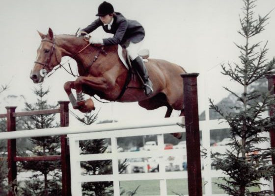 Kelly Marks jumping at Hickstead